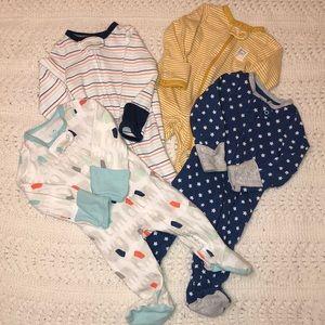 Cloud Island/Carters Footed Pajama Bundle